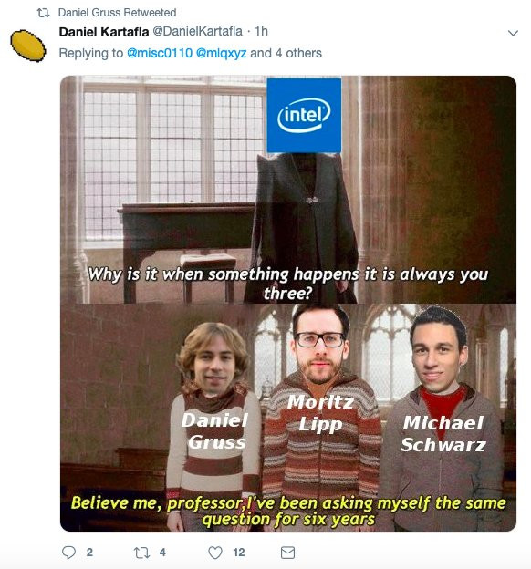 Intel security researcher mem