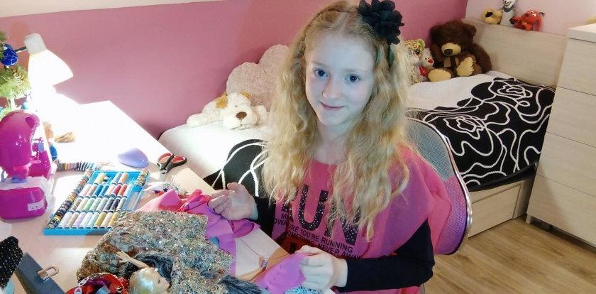 9-latka szyje piękne ubranka dla swoich lalek. Oto mała projektantka mody