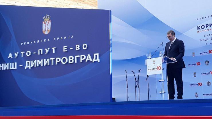 Aleksandar Vučić, Koridor 10, Istočni krak, Otvaranje