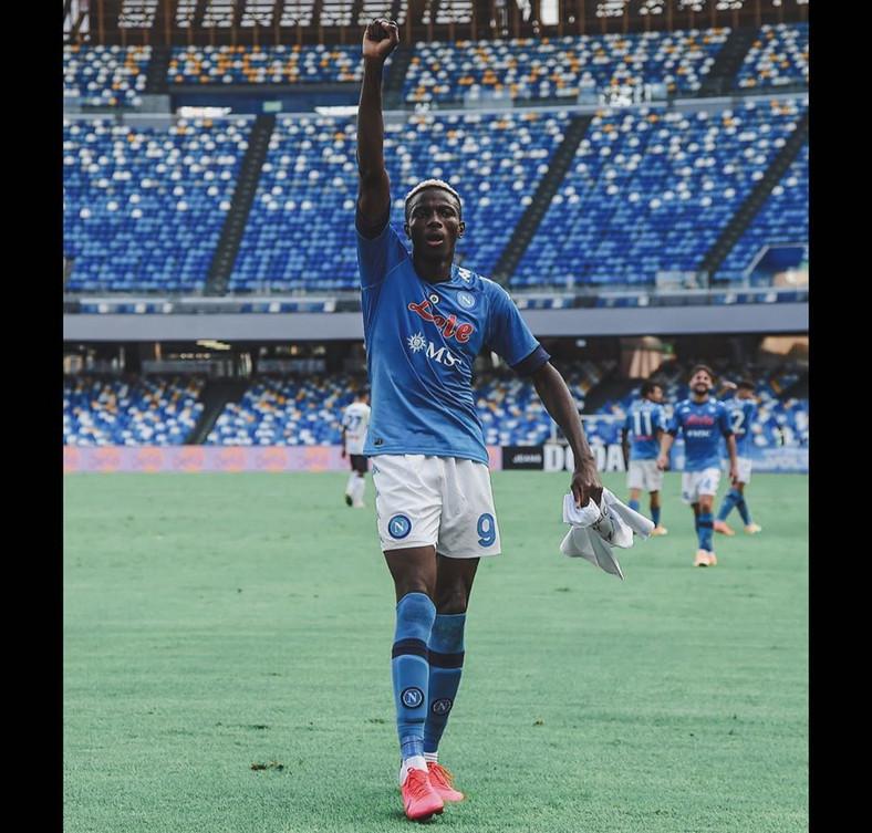 Victor Osimhen got his debut goal for Napoli  (Instagram/Victor Osimhen)