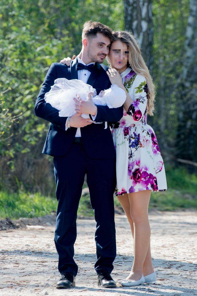 Daniel Martyniuk z byłą żoną i córką
