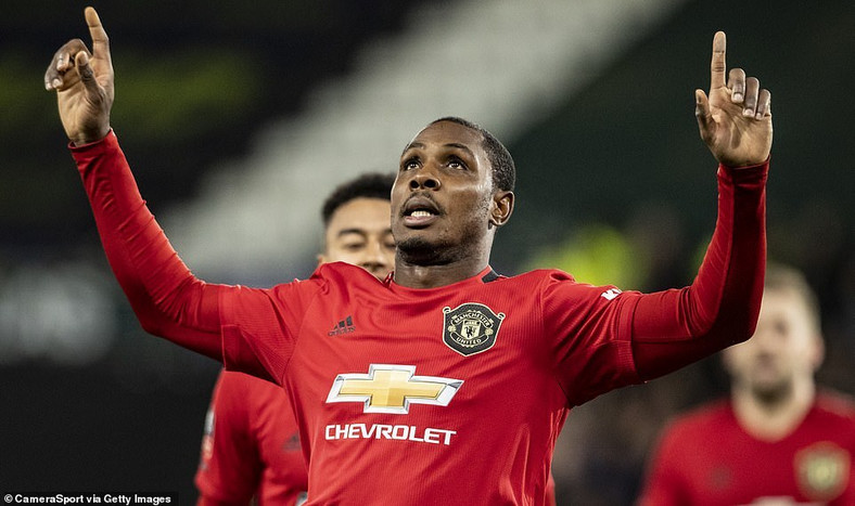 Odion Ighalo joined Manchester United in January 2020  (CamaraSport via Getty Images)