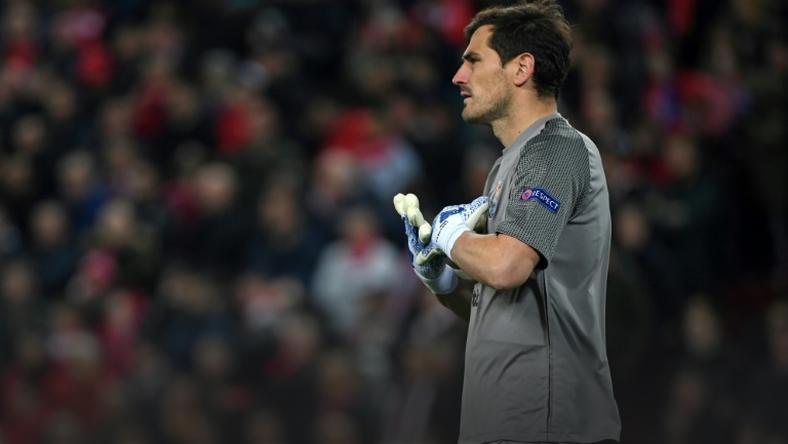 72cd8e18e Iker Casillas appeared in the Champions League quarter-final for Porto  against Liverpool in April
