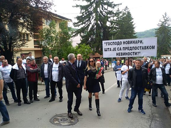 Marija Lukić dolazi na suđenje