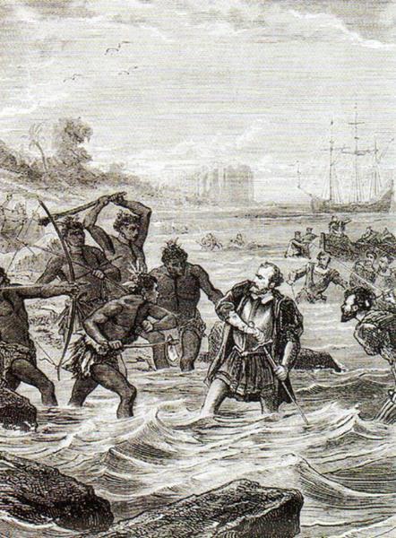Śmierć Magellana na wyspie Mactan