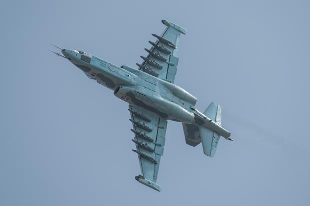 Su-25 w trakcie zwrotu bojowego