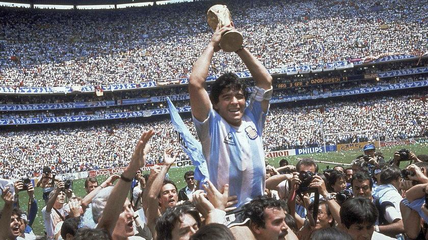 Maradona w 1986 r. zdobył z Argentyną mistrzostwo świata
