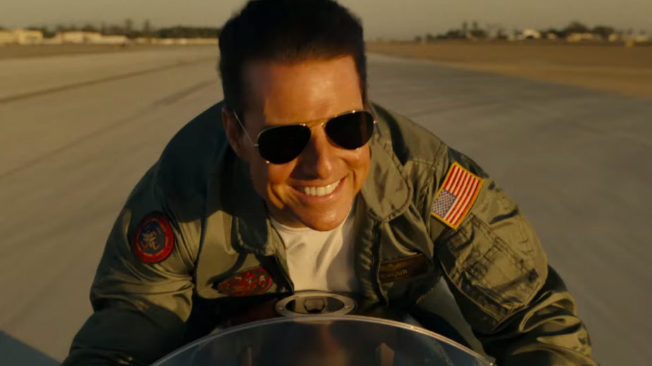"""Top Gun: Maverick"" - kadr z filmu. Na zdjęciu: Tom Cruise"
