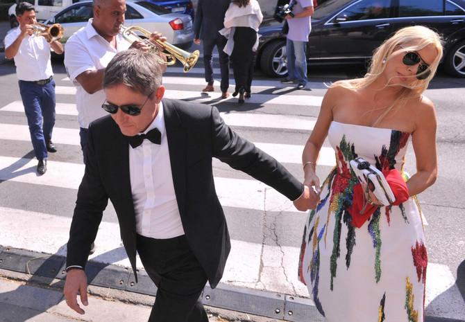 Bračni par Stojković na venčanju ćerke Anje Stojković nedavno u Beogradu