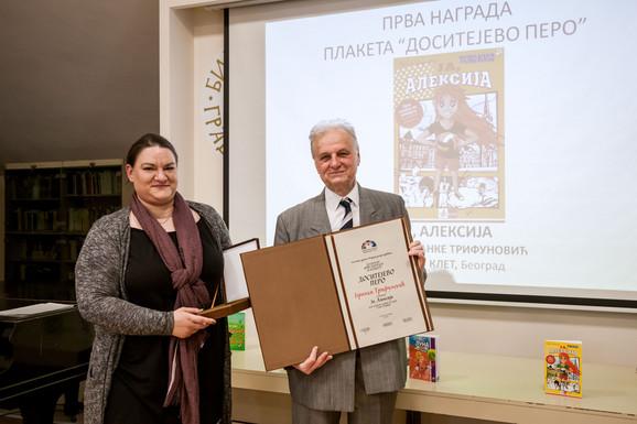 Uručenje nagrade Dositejevo pero Branki Trifunović