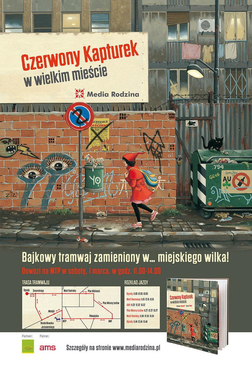 Plakat akcji Bajkowy Tramwaj w Poznaniu