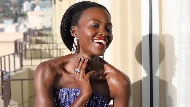 Lupita is a vision at the 76th annual Golden Globes
