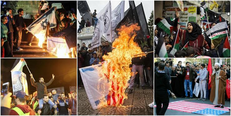 Protesti protiv SAD i Izraela