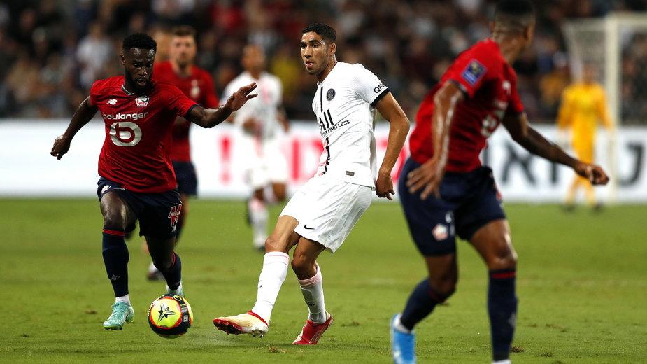 Achraf Hakimi w meczu Lille - Paris Saint-Germain