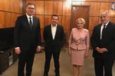 Aleksandar Vučić, Bukurešt, Danćiča, Bojko Borisov, Aleksis Cipras