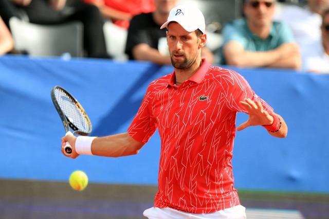 Adria tour - Novak Đoković na nedeljnom meču protiv Nina Serdarušića, nakon kog je nedugo zatim prekinut turnir u Zadru