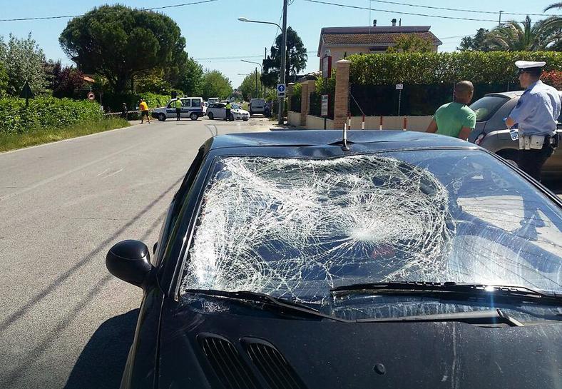 Samochód, z którym zderzył się Nicky Hayden