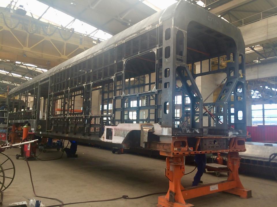 Tak prezentuje się stalowe pudło przyszłego pociągu Impuls 45WE