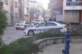 NIs02 policja na mestu napada razbojnika na radnika menjacnice u Aleksincu