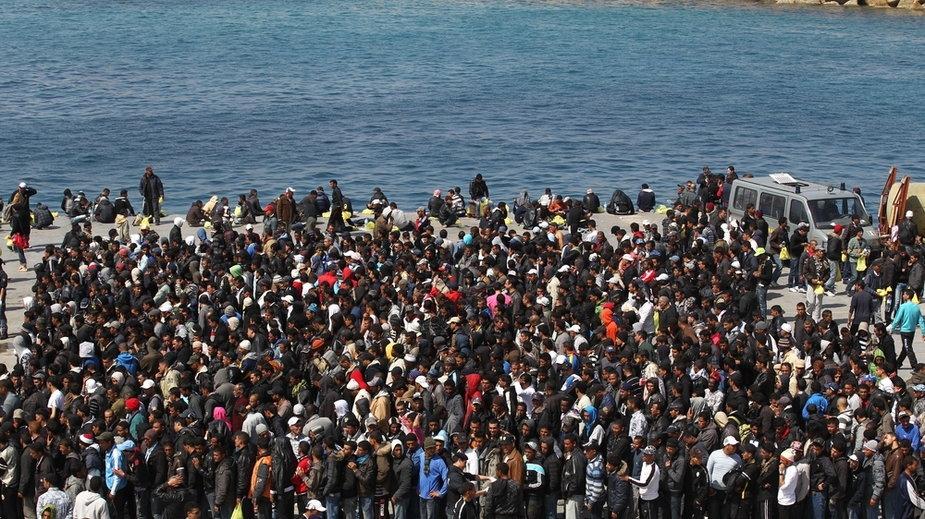 Imigranci na wyspie Lampedusa
