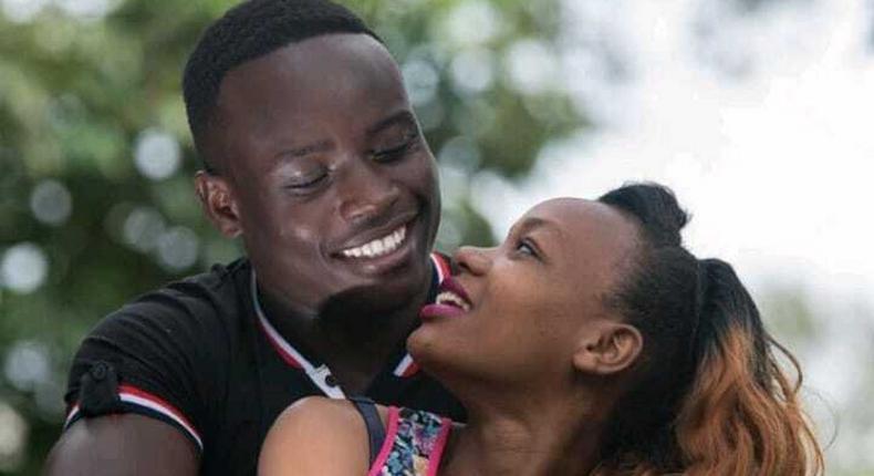 Ferdinand Omanyala and his girlfriend Lavesh