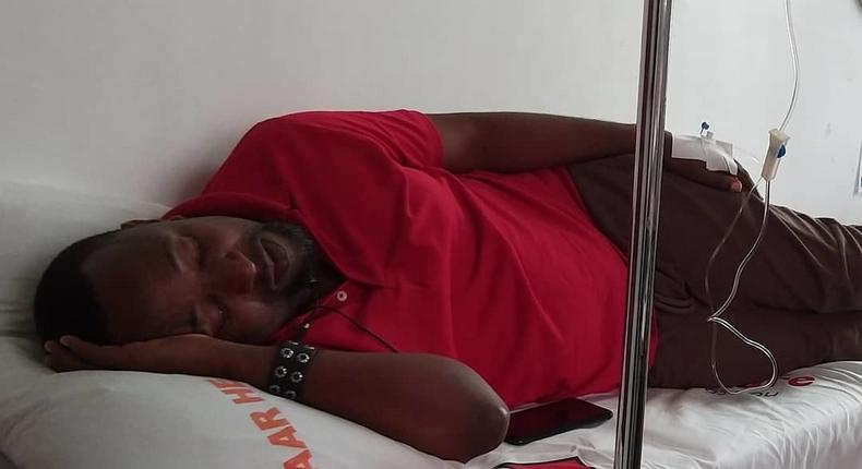 Babu Tale in Hospital