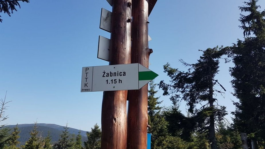 Zielony szlak z Żabnicy-Skałki na Rysiankę został zamknięty