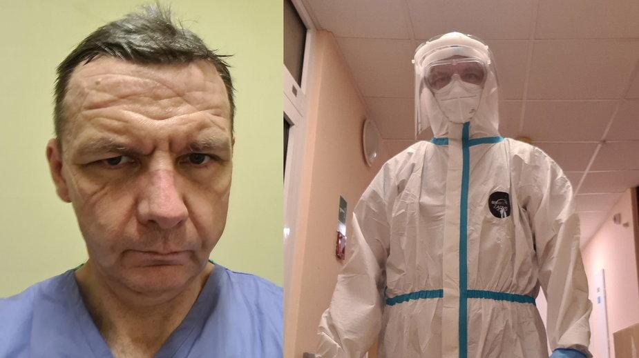 Wiceprezes gorzowskiego szpitala na dyżurze na oddziale zakaźnym