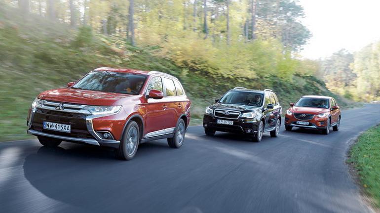 Mitsubishi Outlander kontra Subaru Forester i Mazda CX-5 - japońska szkoła SUV-a