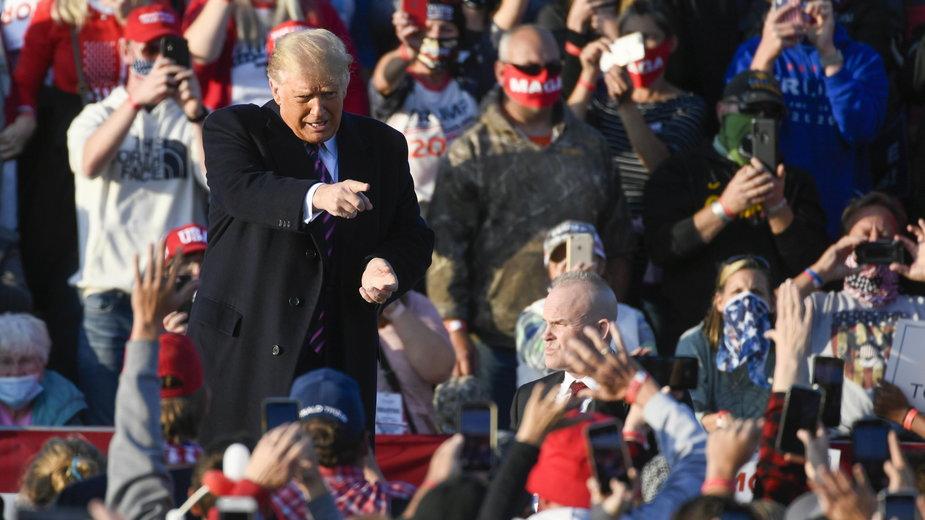Wiec Donalda Trumpa w Bemidji w stanie Minnesota