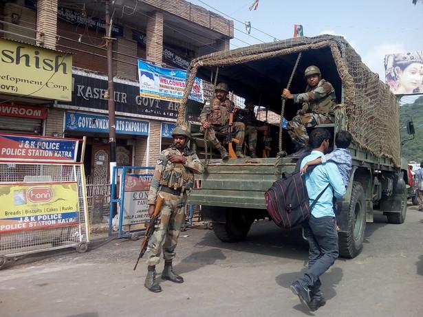 Kaszmir. Hinduscy żołnierze na służbie