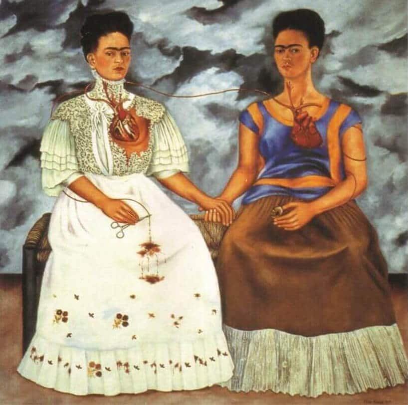 """""""Dwie Fridy"""" – jeden z obrazów, które Frida Kahlo namalowała po rozwodzie"""