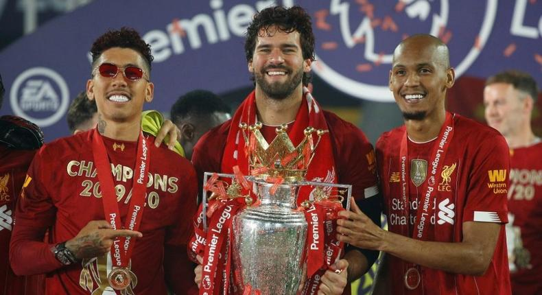 Liverpool's Brazilian trio (from left to right) Roberto Firmino, Alisson Becker and Fabinho could miss the Premier League match against Leeds