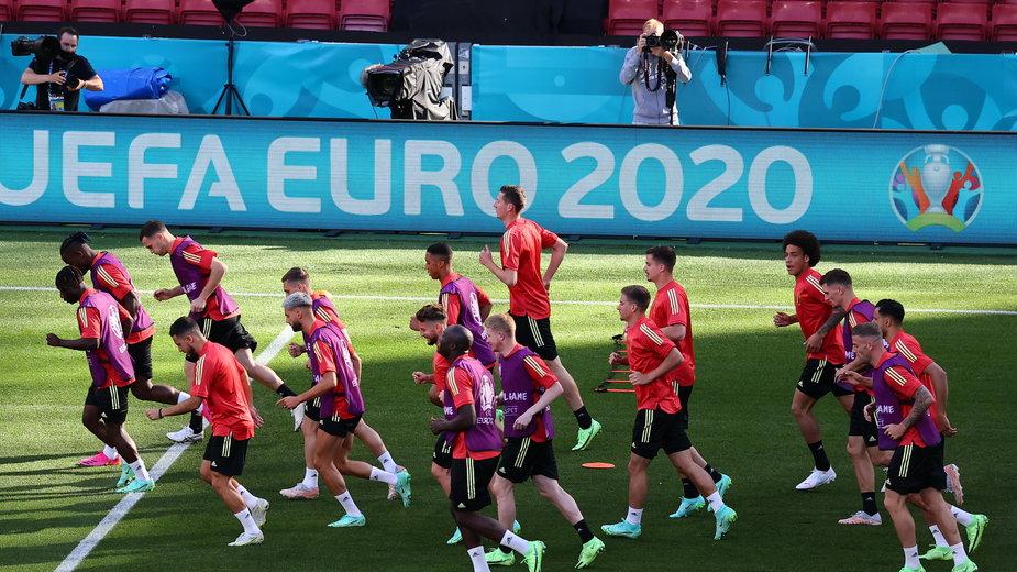epa09277213 - DENMARK SOCCER UEFA EURO 2020 (UEFA EURO 2020 Belgium training)