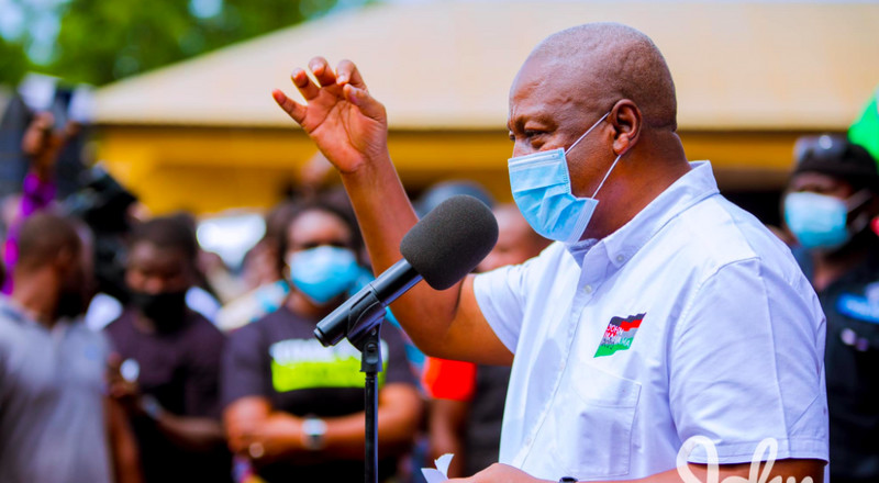 Akufo-Addo comes nowhere near me in infrastructure development – Mahama