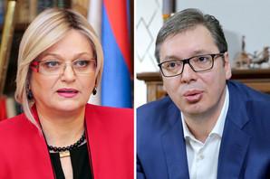 """Vučić želi Jorgovanku Tabaković na čelu NBS u još jednom mandatu: """"Ako ona želi da ostane, ostaće"""""""