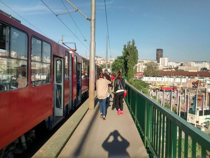sudar na Starom železničkom mostu