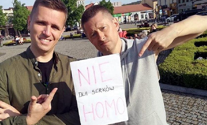Jakub Kwieciński i Dawid Mycek, pomysłodawcy nietypowego happeningu