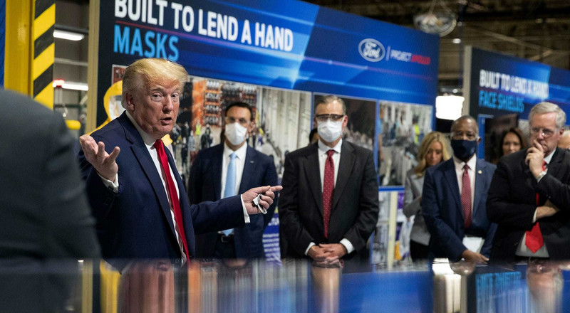 Trump gets into another feud with a powerful woman from Michigan: Attorney General called Trump 'a petulant child' for not publicly wearing a mask during Ford factory visit