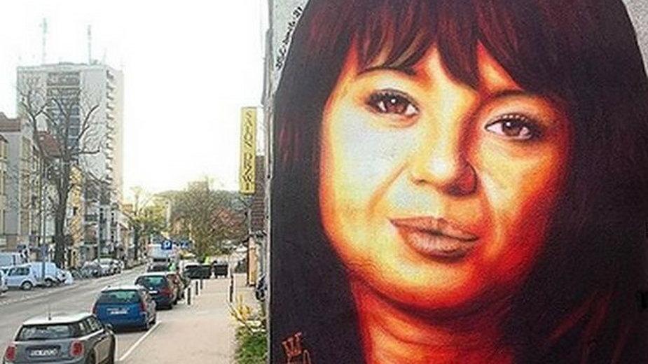 Mural poświęcony Annie Przybylskiej w Gdyni
