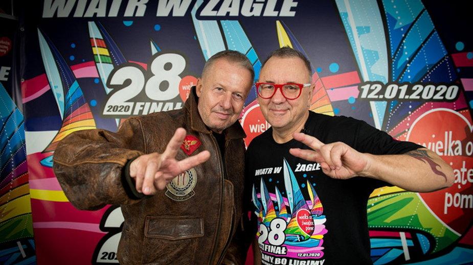 Bogusław Linda i Jurek Owsiak (fot. Łukasz Widziszowski, Fundacja WOŚP)