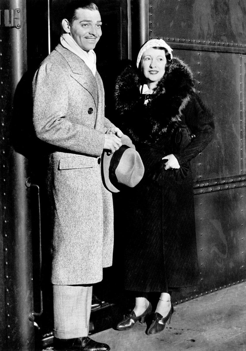 Clark Gable ze swoją drugą żoną Rią Franklin