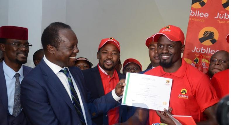 IEBC declines to to accept McDonald Mariga's nomination documents after his name is found missing from register of voters