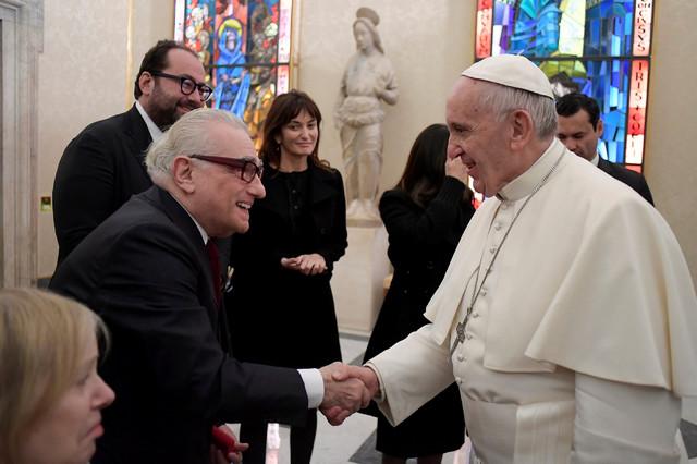 """Martin Skorseze sa papom Franjom u Vatikanu na premijeri filma """"Tišina"""""""