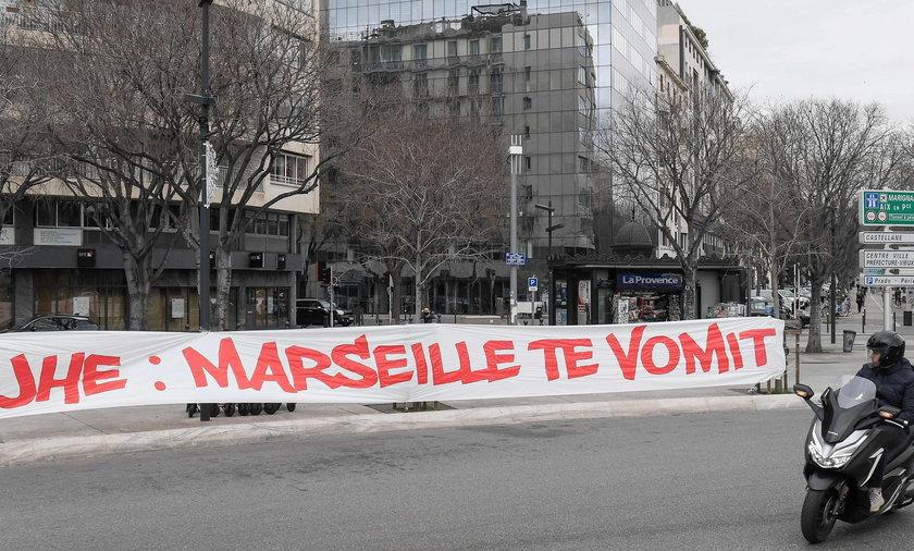 Fani Olympique Marsylia wdarli się do ośrodka treningowego