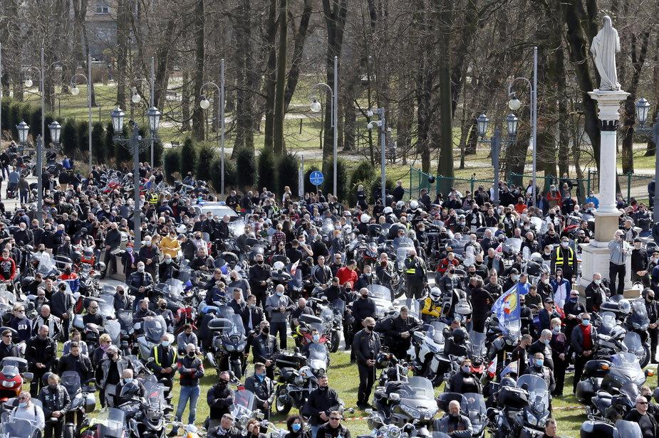 Pielgrzymka motocyklistów na Jasnej Górze