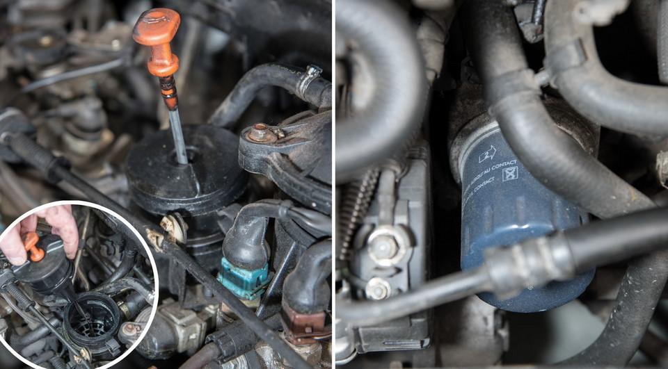 Мы обслуживаем Peugeot 306 1.9 TD: масляная система