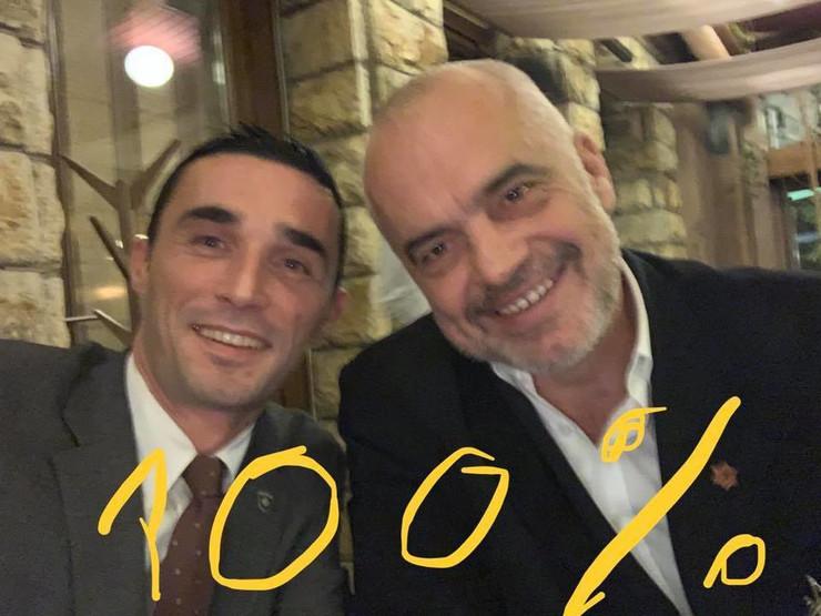 Endrit Šalja i Edi Rama prtscn Fejsbuk
