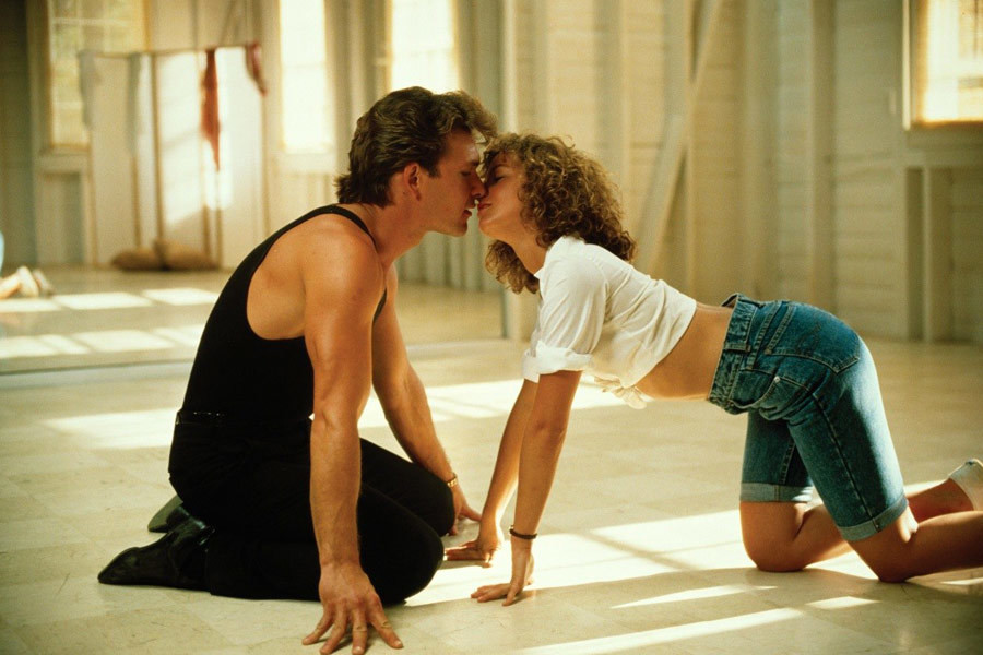 "Jennifer Grey i Patrick Swayze w ""Dirty dancing"" (1987)"