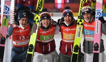 MŚ w Oberstdorfie. Polacy z brązowym medalem w konkursie drużynowym!